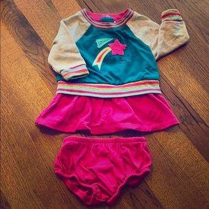 Cat & Jack cheerleader dress and diaper cover